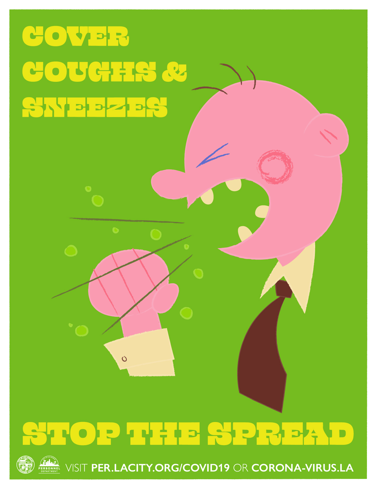 Stop The Spread: Cover Coughs & Sneezes Illustration